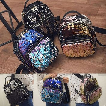 Glam Sequins Fashion Backpack Bag