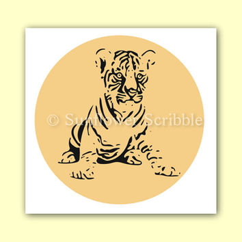 Tiger Nursery Art - Printable Art - Digital Download - Digital Art - Animal Art