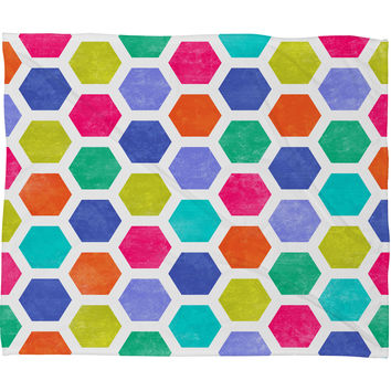 Jacqueline Maldonado Hexagon 2 Fleece Throw Blanket