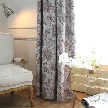 Luxury style printed window curtain for bedroom and living room blackout curtain
