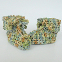 Camouflage Baby Booties Green And Brown Camo Boy Slippers 3 To 6 Months   Infant Girl Children Crochet Hunting  Clothing