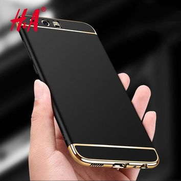 H&A Anti-knock Protective shell Electroplated 3 in 1 Phone Case For Huawei P10 Plus P9 Cases For Huawei P9 P10 lite Cover Coque