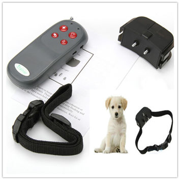 Portable No Harm Electric 4 in 1 Remote Control Small Medium Pet Dog Training Shock Collar Anti Bark Mascotas Cachorro Honden