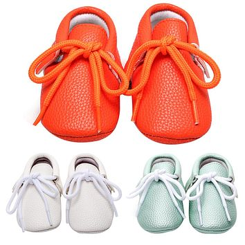 Baby Shoes For Kids Girls Newborn Boys Shoes Casual Soft Soled Lace-up Solid Baby Moccasins Spring Autumn Sneakers Toddler