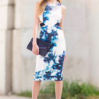 Blair Abstract Print Dress