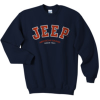 Jeep Sweatshirt: Navy Crewneck - Jeep Logo