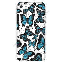 Blue Butterfly Mobile Phone Case iPhone 3 3GS 4 4S 5 5S 5C Samsung Galaxy S2 S3 S4 Mini S5 Sony Xperia Z Blackberry Z10 Curve Bold HTC