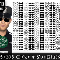 210 PNG Clear and Sunglasses Clipart, glasses, glasses clipart, glasses clip art, sunglasses clipart, spectacles, eyeglasses, specs