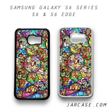 disney characters stained glass Phone case for samsung galaxy S6 & S6 EDGE