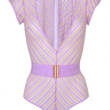 Pettra Lilac and Lime Body | By Agent Provocateur