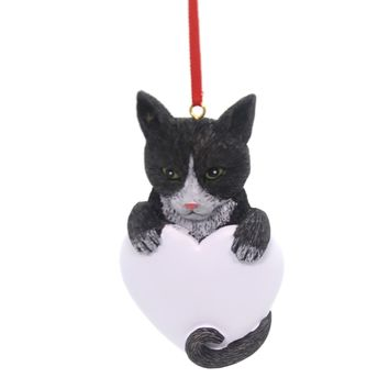 Holiday Ornaments Tuxedo Cat Resin Ornament
