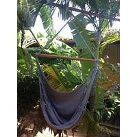 Mission Hammocks Hanging Hammock Chair Organic Cotton - Grey