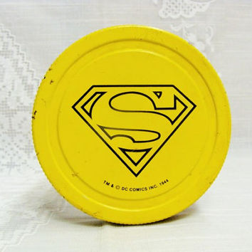 Vintage Superman Peanut Butter Jar | DC Comics 1944 Jar | Collectible Advertisement