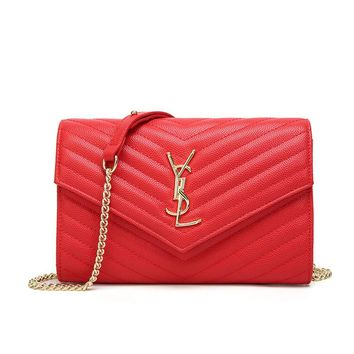 Fashion Leather Purses and Handbags Crossbody Clutch Purses for Women with Gold Chain