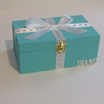 Will You Be My Bridesmaid,Box,Custom Jewelry Box,Wedding,Bridal Jewelry,Bridesmaid Jewelry,Something Blue,Turquoise,Teal,Mint,Bridesmaid Box