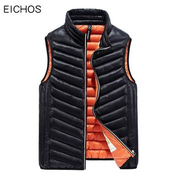 Mens Clothing Vest Casual Down Jacket Vest Warm Winter Mens Waistcoat High Quality Windproof Sleeveless Vests DMY66027