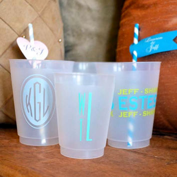 Personalized Shatterproof Party Cups - Set of 50