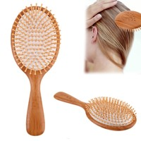 1pc Natural Wood Brush Healthy Care Massage Hair Combs Antistatic Detangling Airbag Hairbrush Hair Styling Tool
