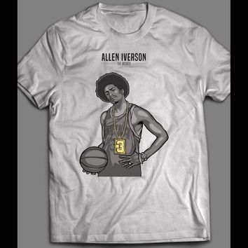 SLAM COVER ART PHILLY'S ALLEN IVERSON THE ANSWER CUSTOM OLDSKOOL T-SHIRT