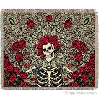 Grateful Dead - Bertha Throw Blanket on Sale for $59.95 at The Hippie Shop