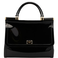 Dolce & Gabbana Sicily Large Plus Gomma Plexi Top-Handle Bag