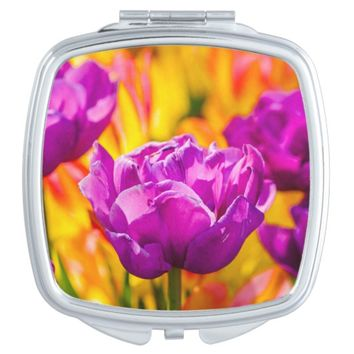 Tulips Enchanting Violet Compact Mirror