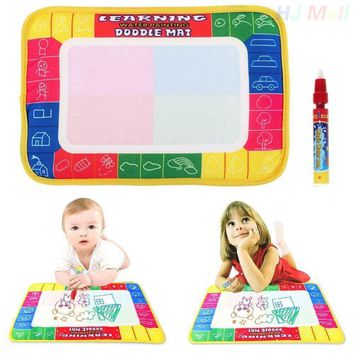 Kids Drawing Toys Colorful Water Drawing Mat Magic Water Pen Drawing Board Baby Play Mat Educational Toys For Children