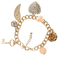 Wing Paved Charm Bracelet | Shop Jewelry at Wet Seal