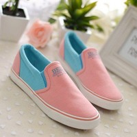 Fashion Contrast Colour Cloth Shoes
