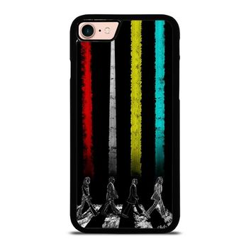 THE BEATLES COLOR ROAD iPhone 8 Case