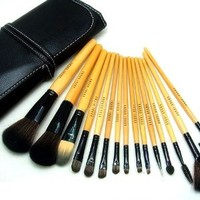 15 PCS Makeup Cosmetic Brushes Set with One Pouch