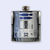 R2-D2 Flask, r2d2 Personalized Custom Flask,Star Wars