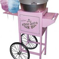 "Nostalgia Electrics CCM600 Commercial Cotton Candy Machine CCM600 on Wheels, 34x 21x50"" 6 Cone Rack, 4' Tall, Designed from 1900's Carnival Circus Era"