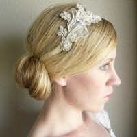 Bridal Ivory Lace Headband Fascinator by starz by starzselection