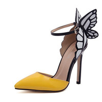 Pointed Toe Butterfly High Heel Shoes = 4814660548