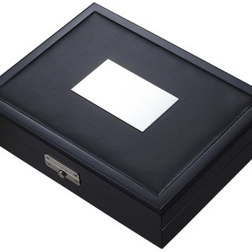 Visol Drako Black Travel Cigar Humidor - Holds 20 Cigars