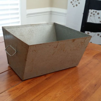 Vintage Rusty Grey Metal Box Great for Decor Storage Organization of Office Garage Studio Craft Kitchen Area
