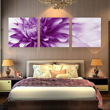 3 Pieces Cuadros Abstract Flowers HD Print Canvas Wall Picture Art Modern Oil Modular Paintings Home Decoration No Frame