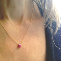 14k Birthstone Necklaces