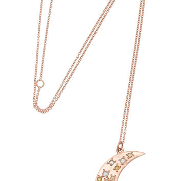 Brooke Gregson - 14-karat rose gold diamond necklace
