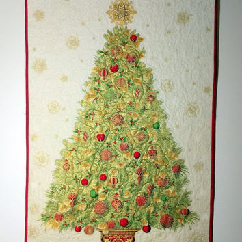 Shop Quilted Christmas Wall Hanging On Wanelo