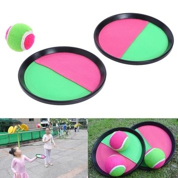 Outdoor Sprots Toy Toss and Catch Sports Game Set Ball Dazzling Toys Catch Ball Game Set 18.5cm Diameter  Kid Children Toy