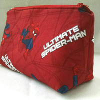 Spiderman Makeup Bag, Travel Bag, Marvel Zippered Bag