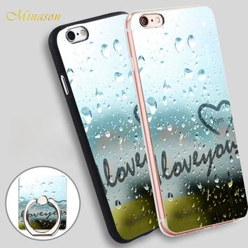 Minason Christian Quotes I Love You Mobile Phone Shell Soft TPU Silicone Case Cover for iPhone X 8 5 SE 5S 6 6S 7 Plus