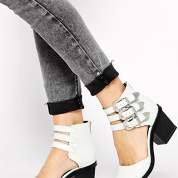 ASOS RAGAN Two Part Ankle Boots