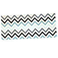 "Heidi Jennings ""Blue Chevron"" Gray Aqua Desk Mat"