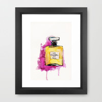Chanel No 5 Framed Art Print by Talula Christian