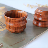Red Dates Wood Kung Fu Tea Cups Cups Features Wave Pattern White Wine Glass