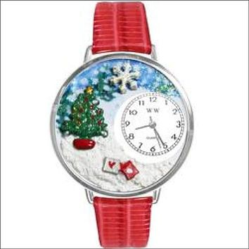 Christmas Tree Watch in Silver (Large)