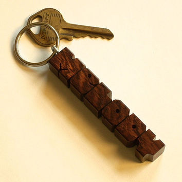 Wood Name Keychain - Rosewood - Made to Order